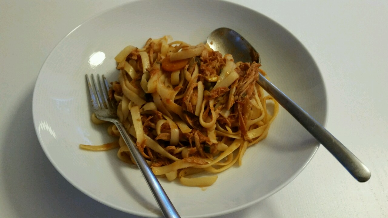 Tagiatelle mit Pulled Pork